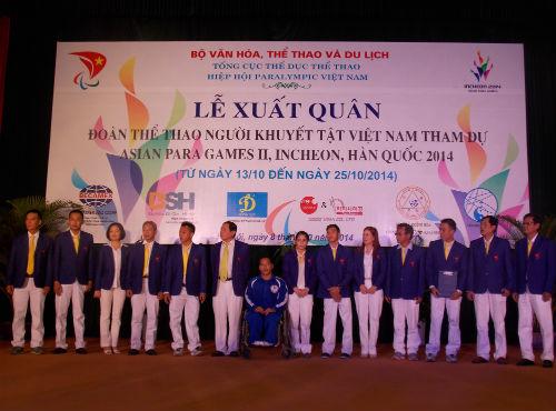 Đoàn Thể thao người khuyết tật VN đặt mục tiêu cao giải châu Á - 1