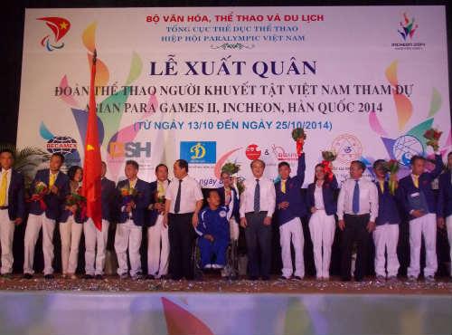 Đoàn Thể thao người khuyết tật VN đặt mục tiêu cao giải châu Á - 4