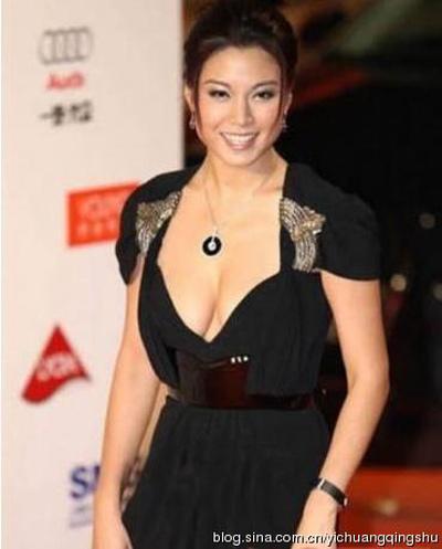 """""""Đau mắt"""" vì váy cổ V sâu hoắm của mỹ nữ Trung Quốc - 12"""