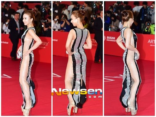 """Kiều nữ """"mặc như không"""" trên thảm đỏ LHP Busan - 1"""