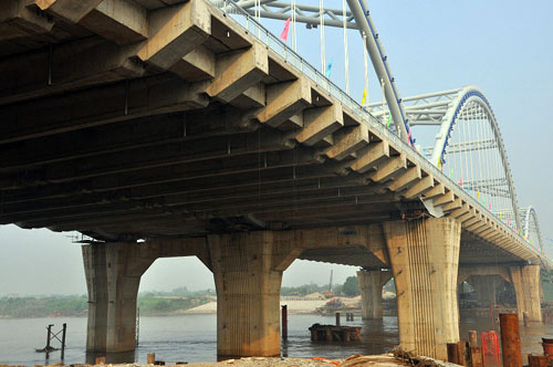 Hà Nội: Thông xe cầu vòm thép trên đường 5 kéo dài - 6