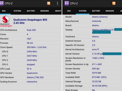 Xác nhận Nexus 6 dùng chip CPU-Z - 2