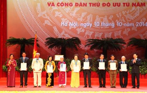 Hà Nội vinh danh 10 Công dân Thủ đô ưu tú 2014 - 1