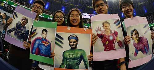 """Fan Trung Quốc tiếp lửa cho """"siêu nhân"""" Federer - 1"""