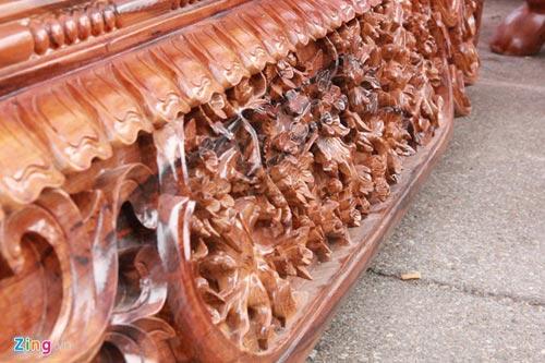 Sập gỗ mun nguyên khối giá hơn nửa tỷ đồng - 4