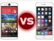 HTC Desire Eye đọ thông số với iPhone 6 và 6 Plus