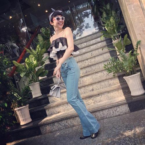 Gam xanh phủ sóng thời trang xuống phố của sao Việt - 4