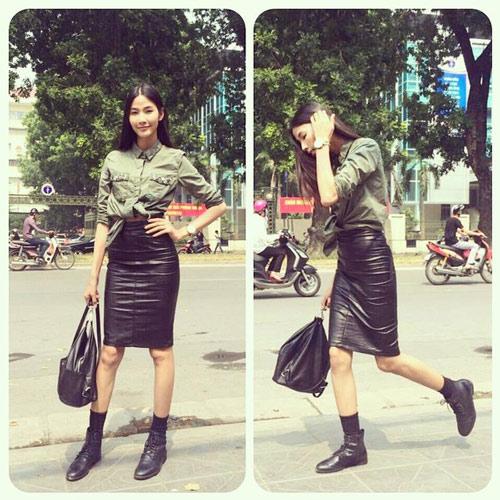 Gam xanh phủ sóng thời trang xuống phố của sao Việt - 10