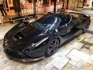 Lộ Ferrari LaFerrari màu đen tuyền của Massa
