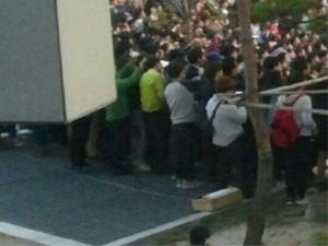 Clip hiện trường tai nạn kinh hoàng trong show diễn 4Minute