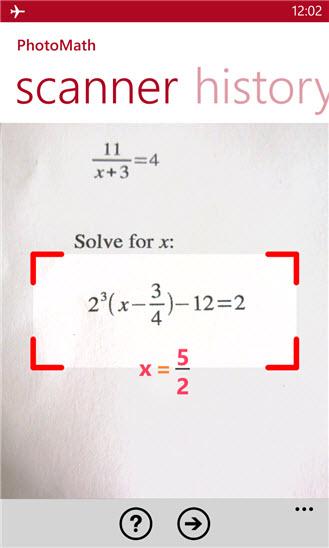 Ứng dụng giải toán trong tích tắc bằng camera điện thoại - 2