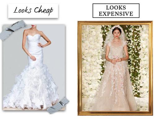 9 lý do khiến chiếc váy cưới của bạn có vẻ rẻ tiền - 1