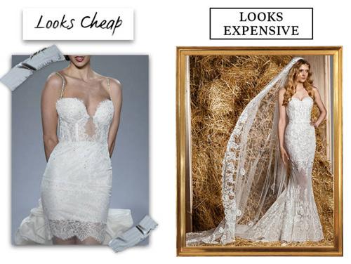 9 lý do khiến chiếc váy cưới của bạn có vẻ rẻ tiền - 4