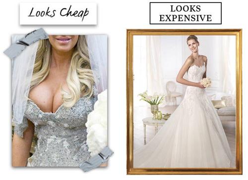 9 lý do khiến chiếc váy cưới của bạn có vẻ rẻ tiền - 5