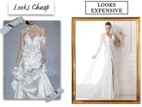 9 lý do khiến chiếc váy cưới của bạn có vẻ rẻ tiền - 6