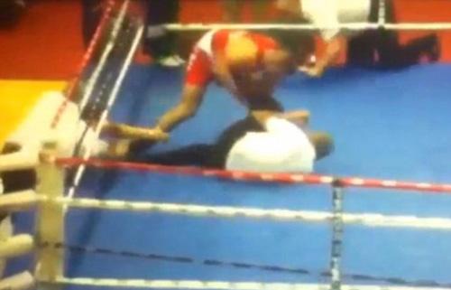 Cay cú vì bại trận võ sĩ đấm trọng tài dã man - 1
