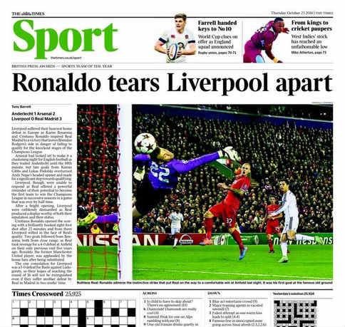 """Báo chí Anh """"ngả mũ"""" trước Ronaldo xuất sắc - 2"""