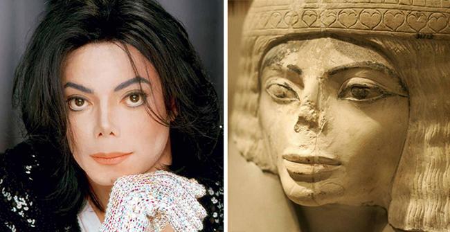 Micheal Jackson và những bức tượng người Ai Cập cổ