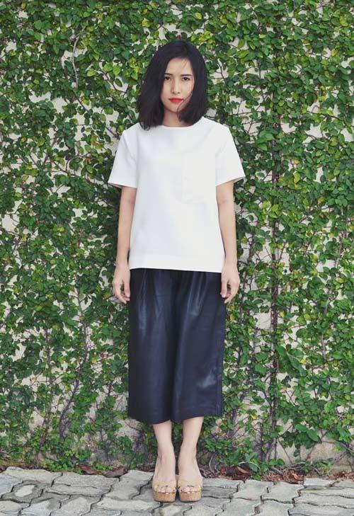 Cô nàng tóc ngắn nổi tiếng nhờ mặc đẹp ở Sài Gòn - 3