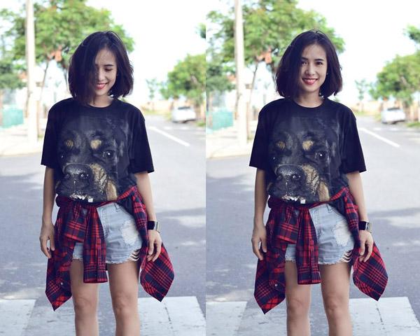 Cô nàng tóc ngắn nổi tiếng nhờ mặc đẹp ở Sài Gòn - 9