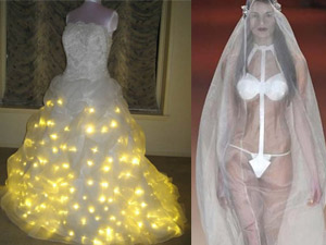 22 chiếc váy cưới độc, lạ, sốc!
