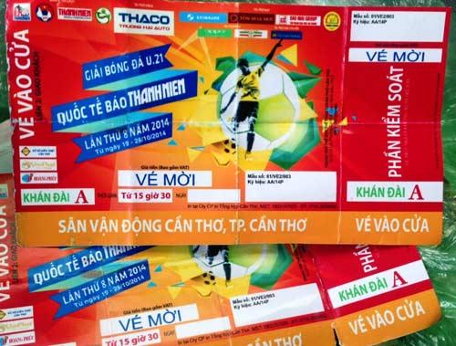 Phá đường dây làm giả vé Giải bóng đá U21 Quốc tế - 1