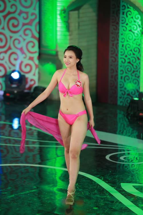 Ngây ngất ngắm thí sinh Hoa hậu VN 2014 diện bikini - 10