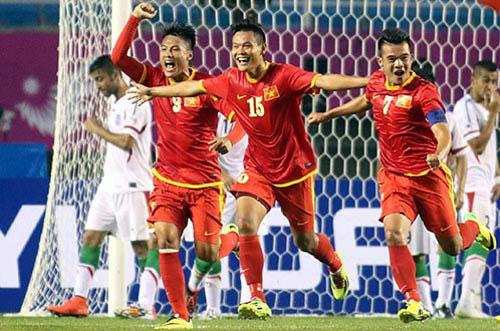 Olympic Việt Nam ban bật trước Olympic Kyrgyzstan - 1
