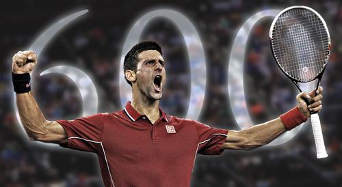 Pha phản xạ trên lưới cực nhanh của Djokovic - 1
