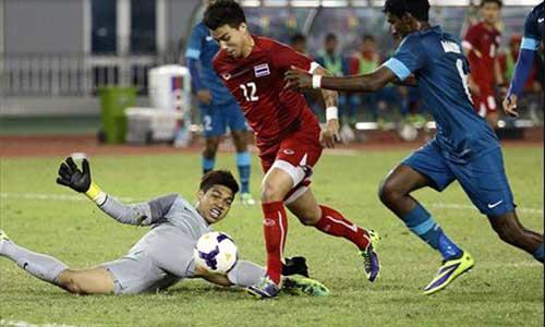 U23 Thái Lan-U23 Singapore: Bước ngoặt phút 24 - 1