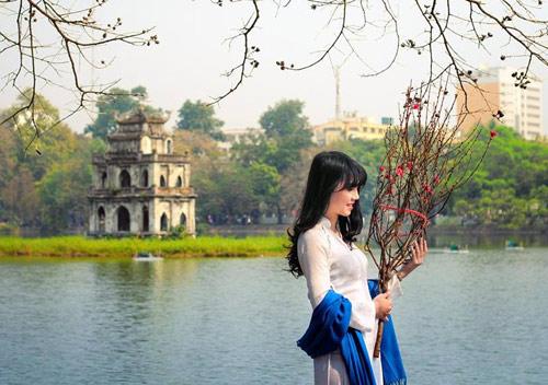 Hot girl Việt xinh đẹp trong tà áo dài - 15