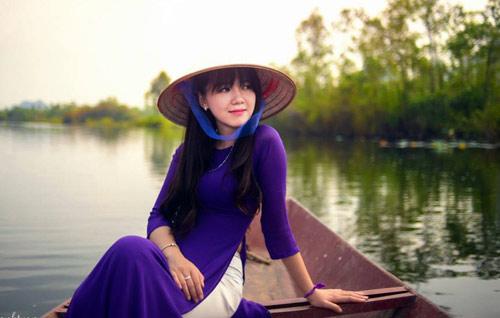 Hot girl Việt xinh đẹp trong tà áo dài - 18