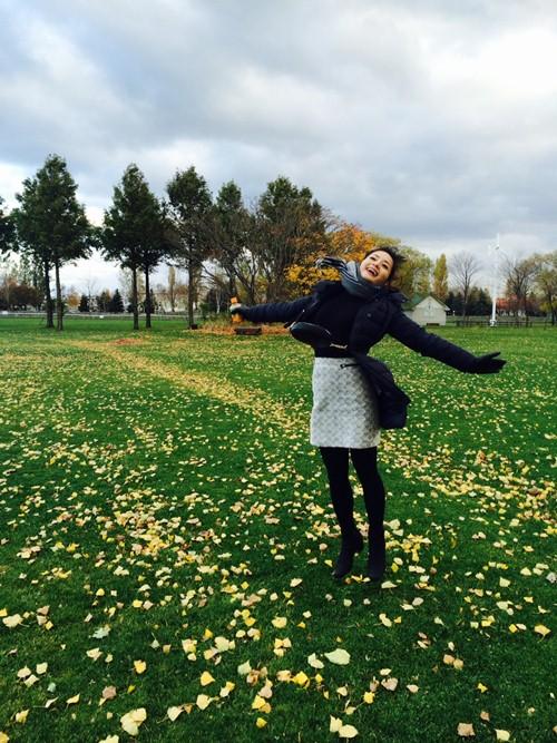 Lan Phương thích thú tận hưởng mùa thu Nhật Bản - 3