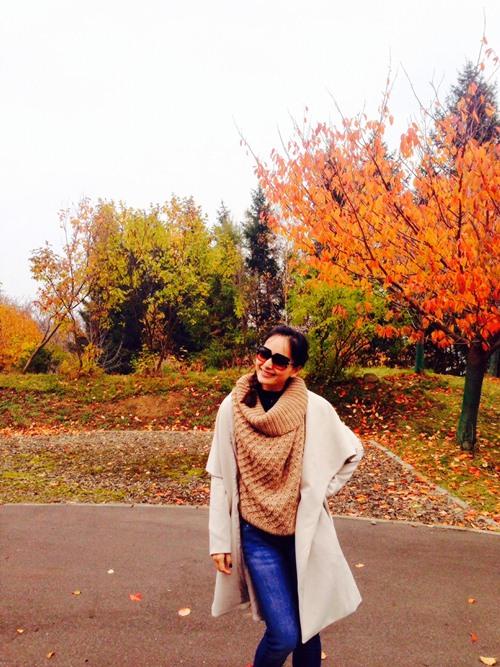 Lan Phương thích thú tận hưởng mùa thu Nhật Bản - 8
