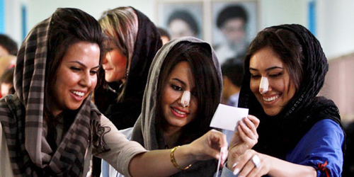 Phụ nữ Iran nâng mũi nhiều nhất thế giới - 1