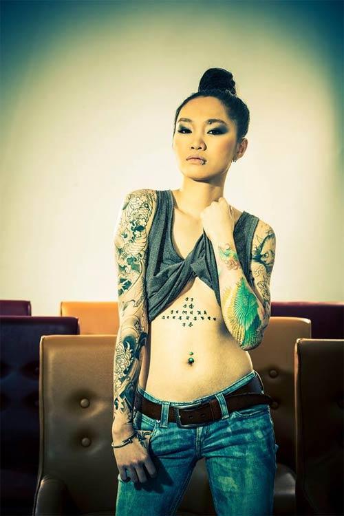 4 kiều nữ xăm mình xinh đẹp nhất Hà thành - 15
