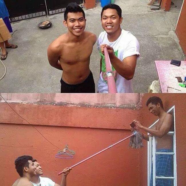 """Đây là cách đàn ông chụp ảnh """"tự sướng"""""""