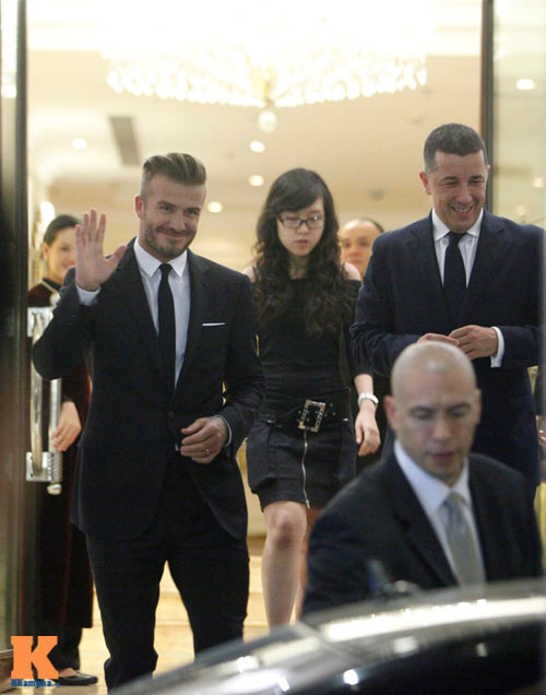 """Beckham """"lịch lãm"""" trong vòng vây fan Hà Nội - 13"""