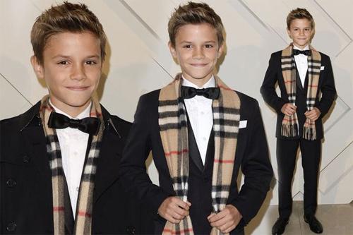 12 tuổi, con trai Beckham thu tiền tỷ nhờ làm mẫu - 1