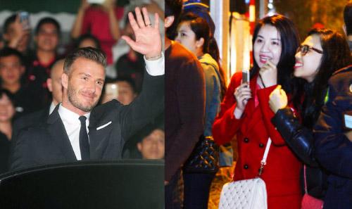 """Beckham điển trai đến VN khiến fan nữ """"điên đảo"""" - 1"""