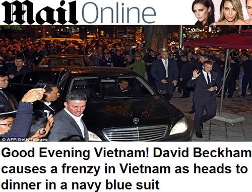"""Beckham điển trai đến VN khiến fan nữ """"điên đảo"""" - 15"""