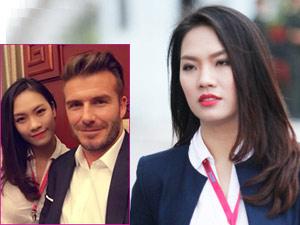 Vẻ đẹp thanh lịch của cô gái chụp ảnh cùng Beckham