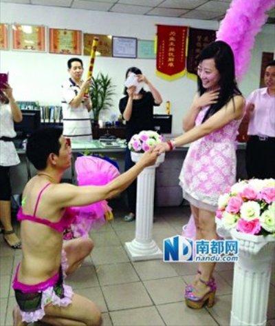 Những kiểu cầu hôn cực sốc tại Trung Quốc - 6