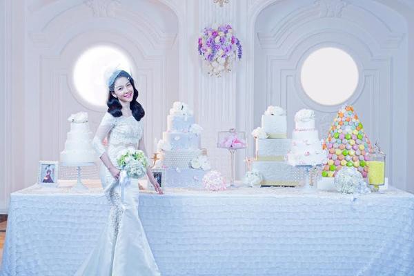 Diễn viên múa Linh Nga lại mặc áo cô dâu - 1