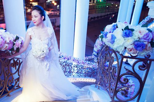 Diễn viên múa Linh Nga lại mặc áo cô dâu - 2