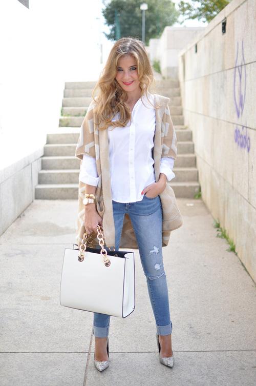 Ngày lạnh mặc đẹp cùng sơ mi trắng - 3