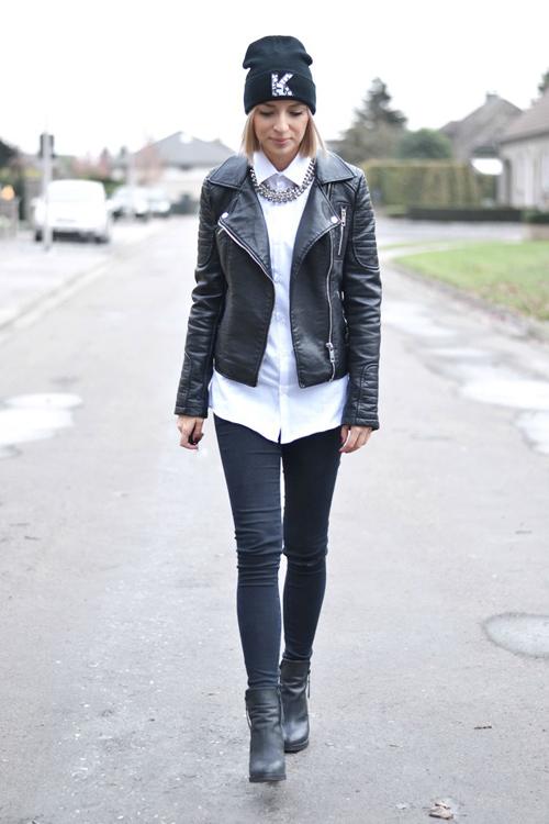 Ngày lạnh mặc đẹp cùng sơ mi trắng - 5
