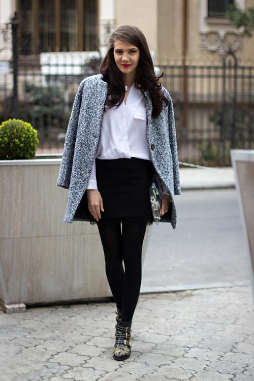Ngày lạnh mặc đẹp cùng sơ mi trắng - 9