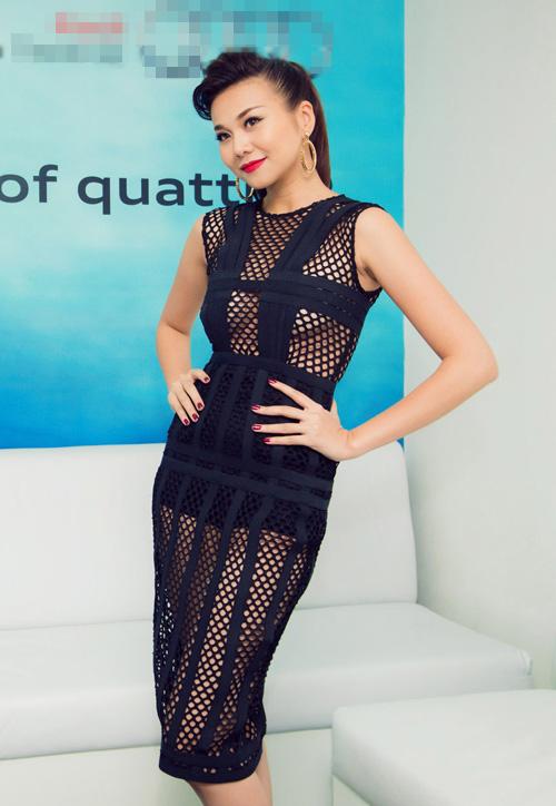 Thanh Hằng gây chú ý với váy lưới xuyên thấu - 3