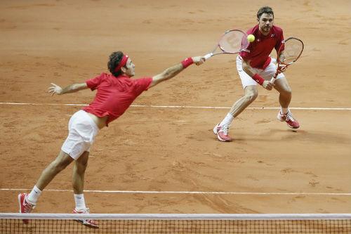 Federer tỏa sáng, Thụy Sĩ thắng trận đôi trước chủ nhà Pháp - 1